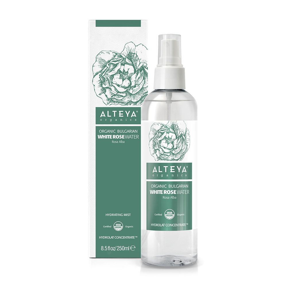 Bio organic rose water from white rosa 250 ml. spray Alba Alteya Organics