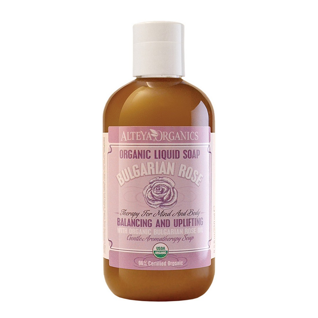 Bio organic liquid soap for hands and body with Bulgarian rose oil Alteya Organics