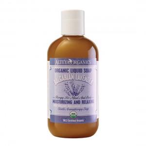 Bio organic liquid soap for hands and body with lavender Alteya Organics
