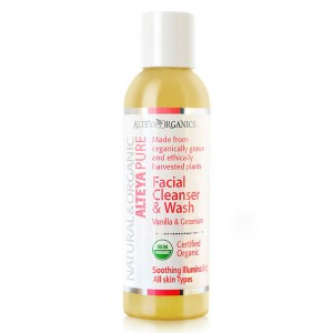 Bio organic facial washing gel with vanilla and geranium Alteya Organics