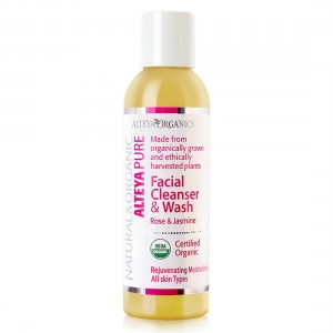 Bio organic facial washing gel with rose and jasmine Alteya Organics