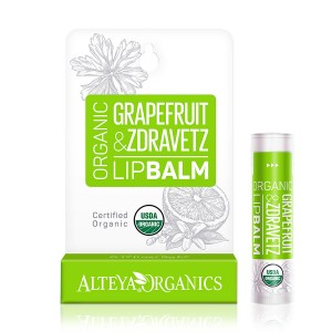Bio organic lip balm with grapefruit and zdravetz Alteya Organics