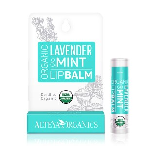 Bio organic lip balm with lavender and mint Alteya Organics