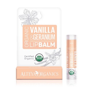 Bio organic lip balm with vanilla and geranium Alteya Organics