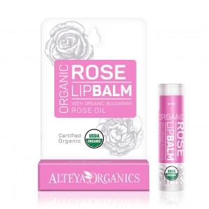 Bio organic lip balm with rose extract Alteya Organics