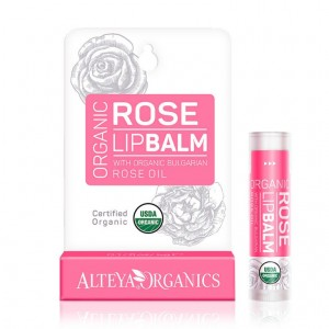 Bio organic lip balm with rose extract Alteya Organics