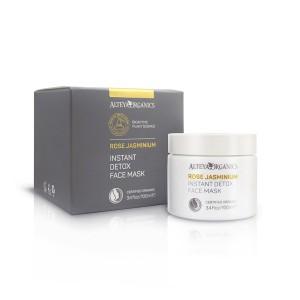 Bio organic instant detox face mask with rose and jasmine Alteya Organics