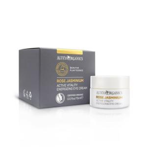 Bio organic energizing eye cream with rose and jasmine Alteya Organics
