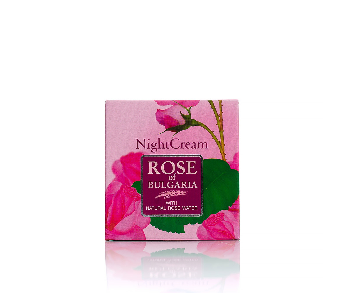Night face cream with rose water Rose of Bulgaria Biofresh