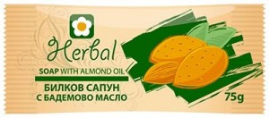 Natural herbal soap with almond Oil Herbal Biofresh