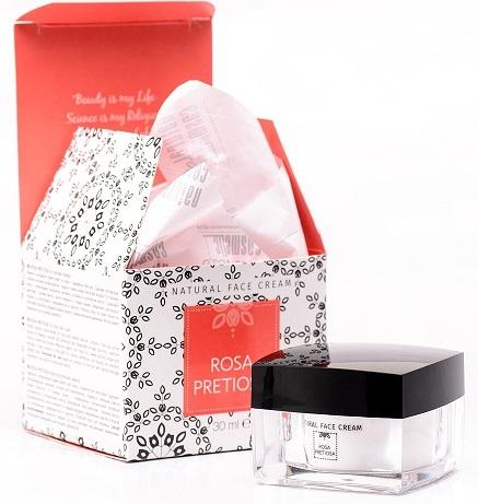 Ефирен натурален крем-сорбе за лице Rosa Pretiosa Natural Cosmetic