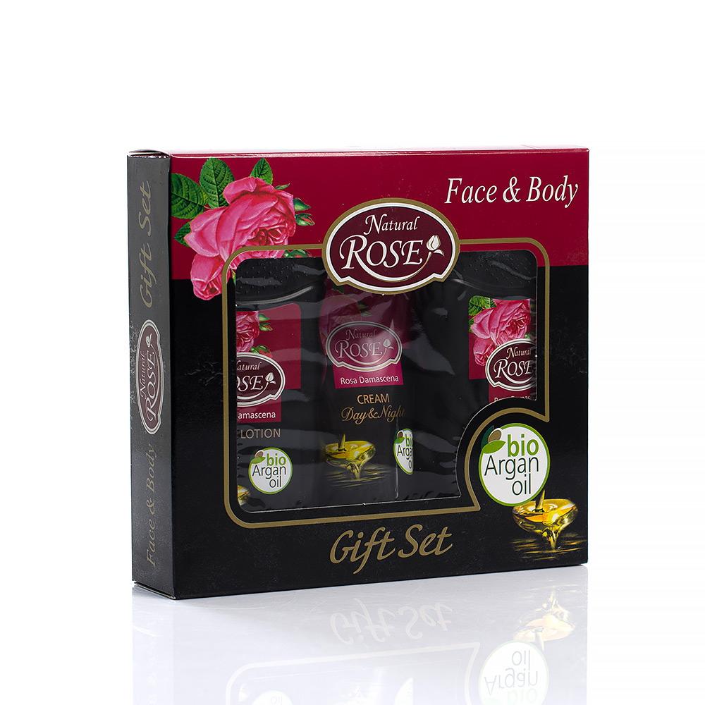 Комплект с Био Арганово Масло Natural Rose Arsy Cosmetics