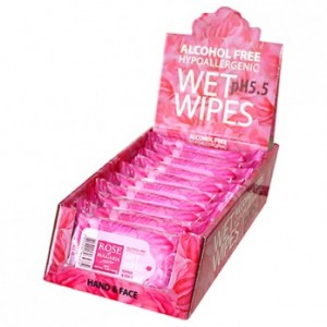 Hands & Face wet wipes with rose water Rose of Bulgaria Biofresh