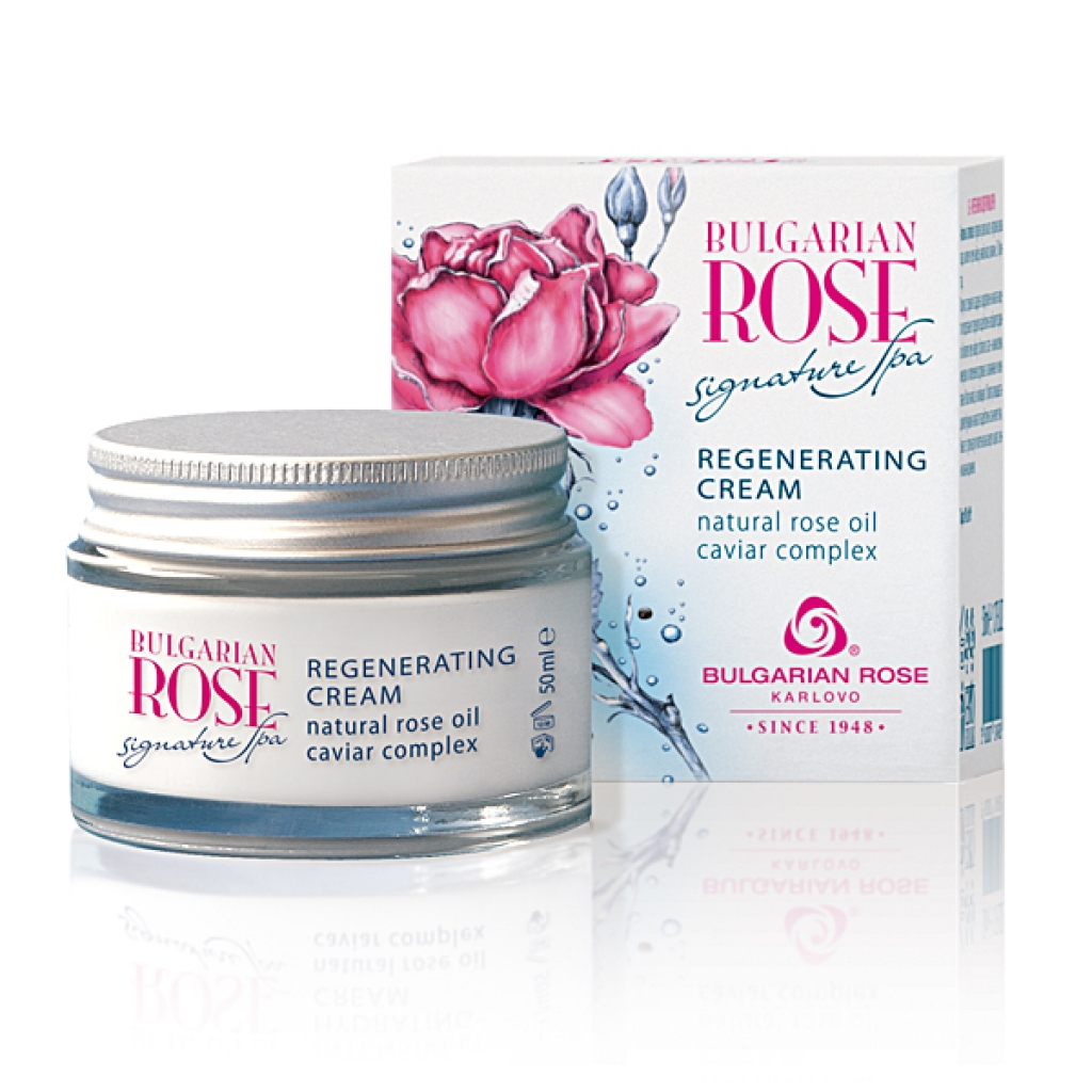 Възстановяващ нощен крем за лице с хайвер и българска роза Signature Spa Българска Роза Карлово