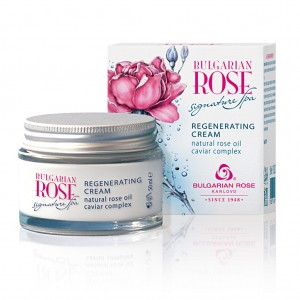 Regenerating night cream for face with caviar and bulgarian rose Signature Spa Bulgarian Rose Karlovo