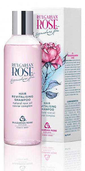 Възстановяващ шампоан с розово масло и черен хайвер Signature Spa Българска Роза Карлово