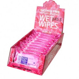 Antibacterial wet wipes for hands Rose of Bulgaria Biofresh