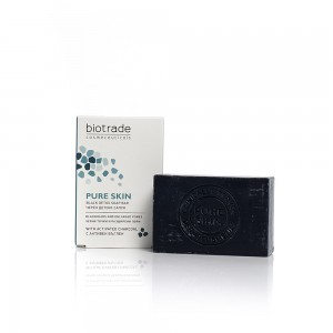 Black detox soap for face Pure Skin Biotrade