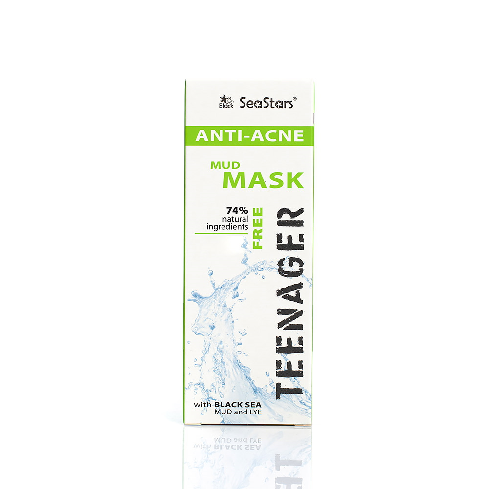 Anti-acne mud mask for face and body Teenager Seastars