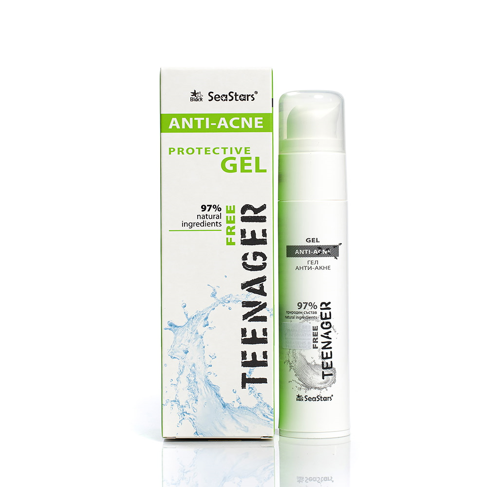 Protective anti-acne gel for oily and problematic skin Teenager Black Sea Stars