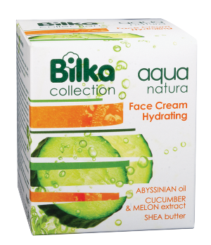Moisturizing face cream with cucumber and melon extract Bilka Aqua Natura