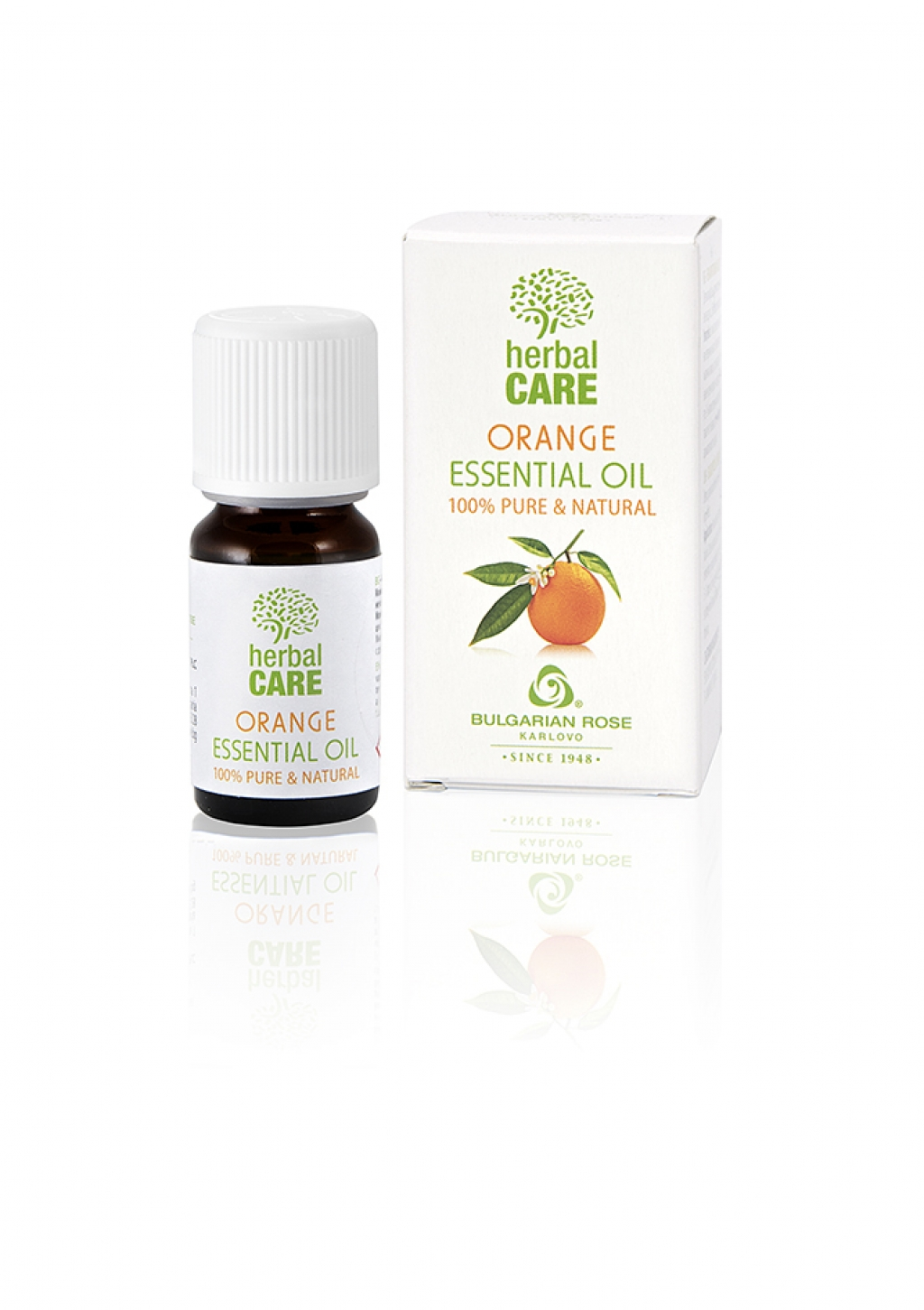 100% essential oil from orange Bulgarian Rose Karlovo