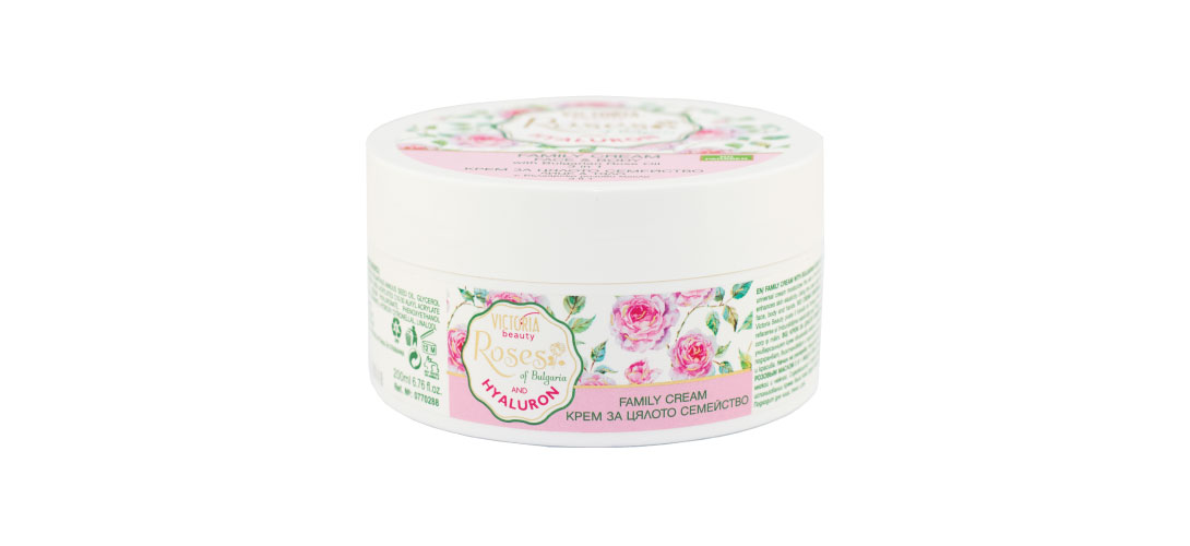 Family cream 3-in-1 Roses of Bulgaria & Hyaluron Victoria Beauty