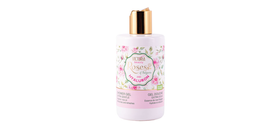 Shower gel with Bulgarian rose oil Roses of Bulgaria & Hyaluron Victoria Beauty