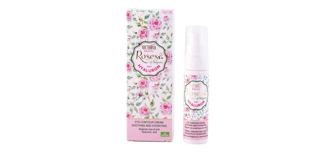 Околоочен крем с розово масло Roses of Bulgaria & Hyaluron Victoria Beauty
