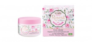 Face cream with rose oil and hyaluronic acid Roses of Bulgaria & Hyaluron Victoria Beauty