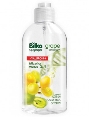 Micellar water 3 in 1 Grape Energy Hialuron+ Bilka