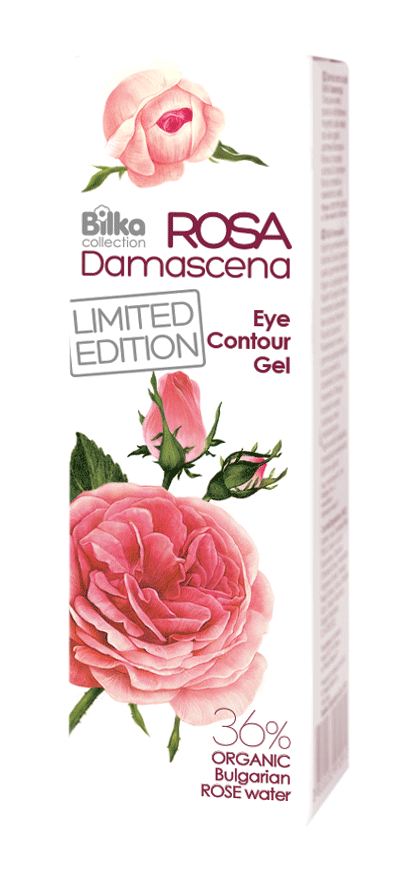 Гел за околоочен контур с розова вода Bilka Roza Damascena