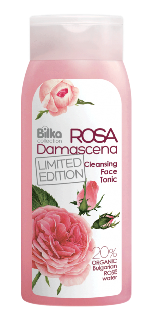 Cleansing facial tonic with organic rose water Rosa Damascena