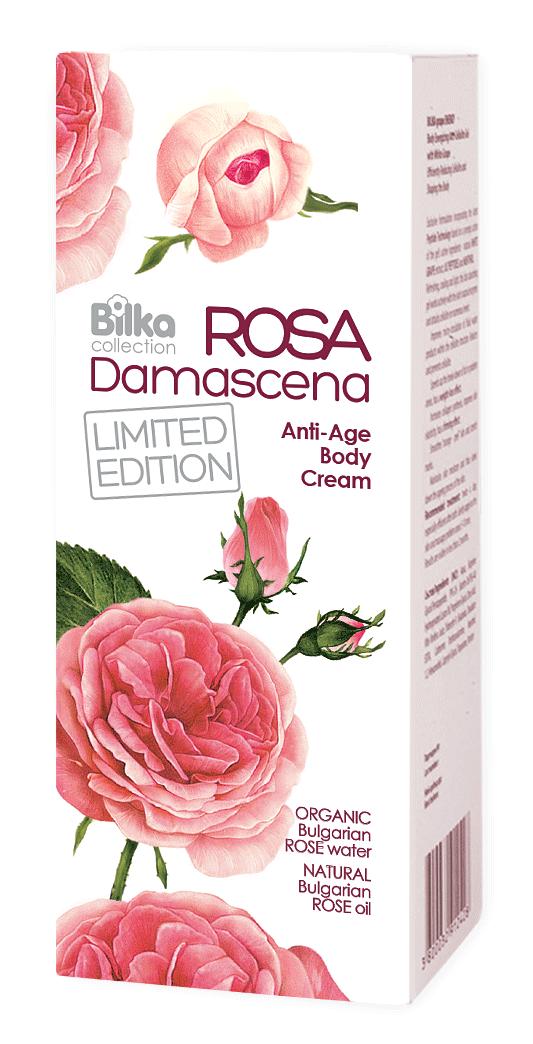 Крем за тяло против стареене с етерично розово масло Bilka Roza Damascena