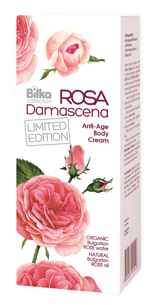 Anti-aging body cream with essential rose oil Bilka Rosa Damascena