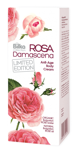 Anti-aging body cream with essential rose oil Bilka Rosa Damascena