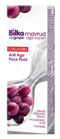Подмладяващ флуид за лице с колаген и екстракт от грозде Bilka Mavrud Age Expert Collagen+