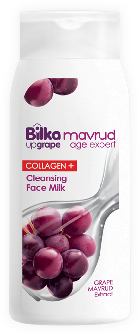 Anti-aging facial cleansing milk with grape extract and fish collagen Bilka Mavrud Age Expert Collagen +