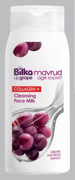 Изглаждащо антиейджинг мляко за лице с екстракт от грозде и рибен колаген Bilka Mavrud Age Expert Collagen+