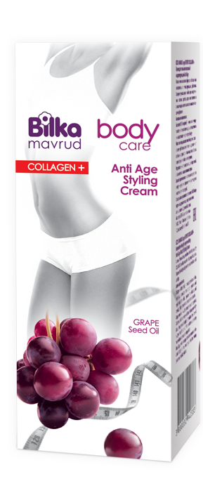Anti-age body styling cream with grape extract and fish collagen Bilka Mavrud Age Expert Collagen +
