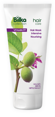 Intensive nourishing hair mask with nettle and walnut Bilka Hair Care