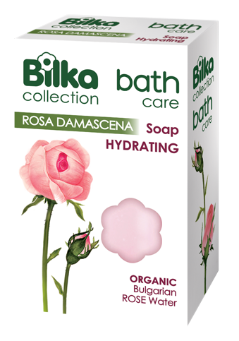 Delicate moisturizing soap with rose water Bilka Bar Soaps