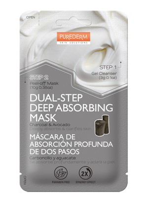 Dual-step deep absorbing face mask Purederm