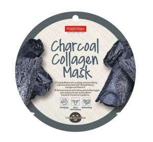 Колагенова маска за лице с активен въглен Purederm