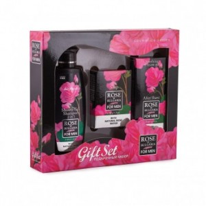 Gift set for men with mini shower gel and shampoo, soap and aftershave cream Biofresh