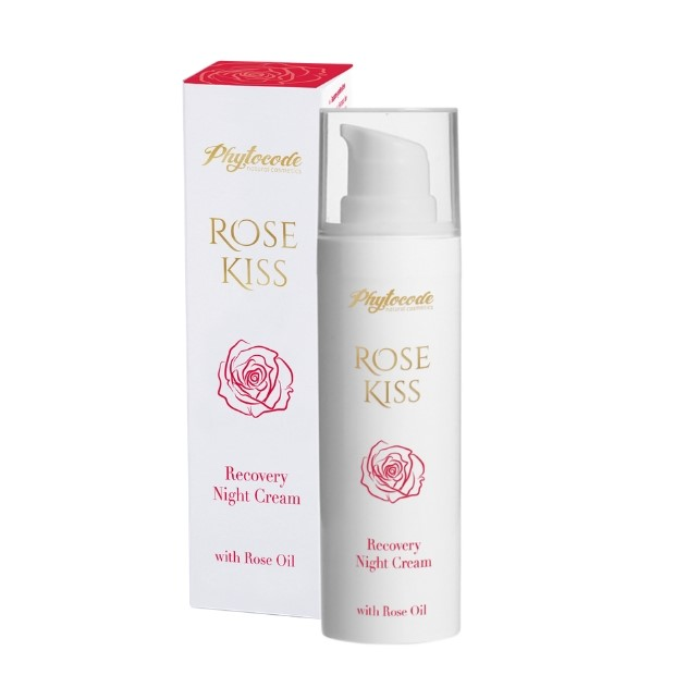 Night recovery face cream with rose oil Rose Kiss Phytocode