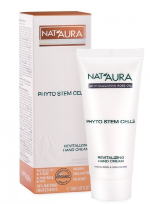 Revitalizing hand cream with phyto stem cells Nat'Aura Biofresh