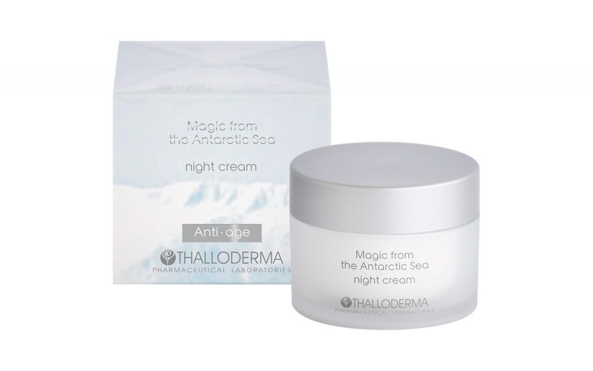 Night anti-age face cream Magic from the Antarctic sea Thalloderma