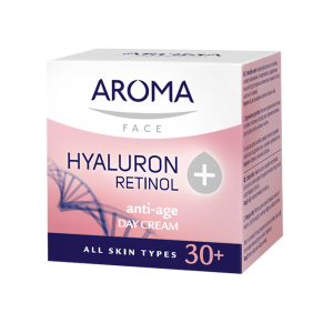 Дневен крем за лице Retinol+Hyaluron Aroma