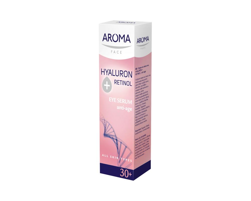Околоочен серум Hyaluron+Retinol Aroma